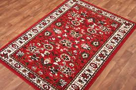 details about fl red brown green and cream traditional rug 5 sizes available