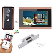 <b>7 inch Wired Wifi</b> Video Door Phone Doorbell Intercom Entry System ...