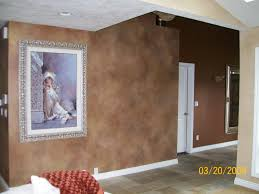 faux painting on walls.