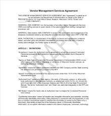 Example Of An Agreement 27 Sample Vendor Agreement Templates Pdf Doc Free