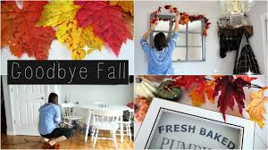 CLEANING For Christmas | Taking Down FALL Decor | HAPPY THANKSGIVING!!
