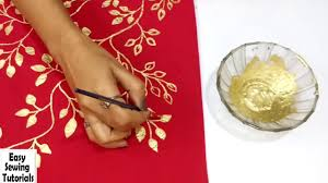 diy golden painting easy fabric painting ideas