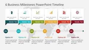 Timeline Powerpoint Slide 6 Business Milestones Powerpoint Timeline