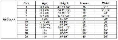 Target Boys Size Chart Boys Size Chart Levi Strauss Co Boys Size Chart