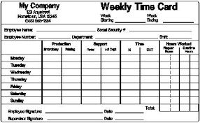 Time Card Sheets Free Printable Simple Timecard Trials Ireland