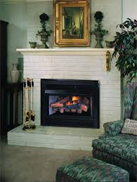 stunning fireplace insert with er and painted brick fireplace surround including polished brass fireplace tool set