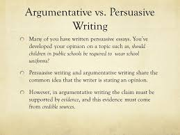 writing an argumentative essay the united states decision to drop persuasive writing many of you have written persuasive essays