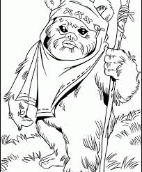 Small Picture ewok1 Ewok Starwars Coloring Pages from 101ColoringPagescom