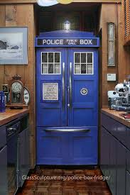 refrigerator box. opening refrigerator box
