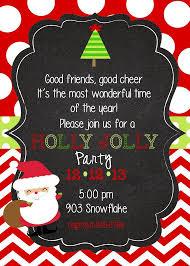 Christmas Invitation Ideas Christmas Party Invitationsanta Holly Jolly Party By Stickerchic
