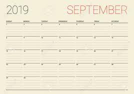 Desk Calendar Printable September 2019 Desk Calendar