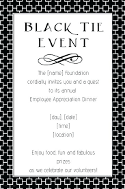 Fundraiser Wording For Flyer Black Tie Invitations Black Tie Fundraiser Event Flyer Invitation