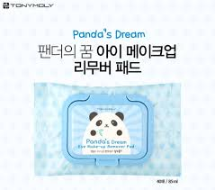 tonymoly panda s dream eye make up remover pad