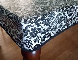 vinyl black and white ed tablecloths with chic pattern for table decoration ideas cozy round