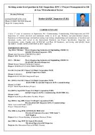 qa qc inspector resume quality assurance cv sample cv format for  Carpinteria Rural Friedrich Resume Samples