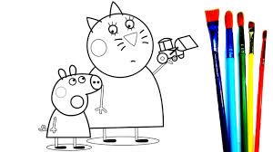Small Picture Coloring Book Mummy Cat Peppa Pig and Mr Bull Coloring Pages New
