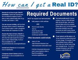 Of Kansas Real Id Revenue Department -