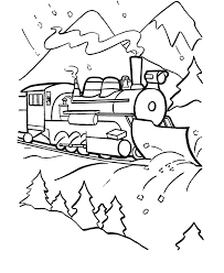 Small Picture Polar express coloring pages through the snowstorm ColoringStar