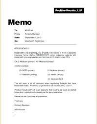 Memo Example Business Memo Report Format Apa Style Formatting Template Writing In