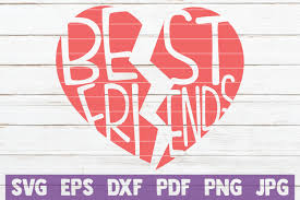 Download friends logo vector in svg format. Best Friends Heart Cut File Graphic By Mintymarshmallows Creative Fabrica