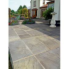 patio stones. Marshalls Heritage Riven Old Yorkshire 600 X 38mm Paving Slab - Pack Of 22 Patio Stones