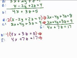 3 4 solve systems of linear equations in three variables