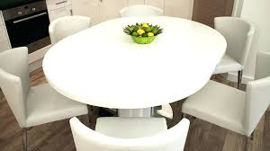 windermere solid oak oval extending dining table round white gloss pedestal base