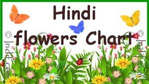 Hindi Flowers Chart For Kids Hindi Language Hindi