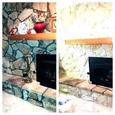 paint rock wall painting rock fireplace inspiring painting a sandstone fireplace rock fireplace makeover can you paint rock