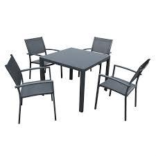 nice aluminium outdoor table mimosa 5 piece ascot aluminium setting bunnings warehouse