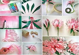 Paper Flower Craft Ideas Diy Paper Flower Craft