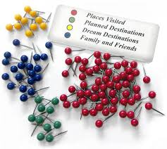 Pins For Maps Color Code Your Pins For Greater Specificity Travel Map
