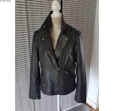 s next 100 leather biker jacket plus size 22 new
