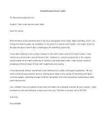 Cover Resume Letter – Resume Letter Collection