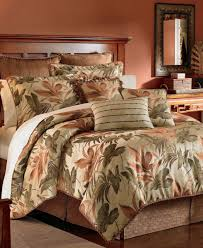 new croscill bedding bali harvest fl 4 piece queen comforter set 420