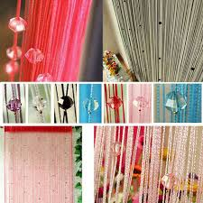 tassel curtain crystal beads tassel silk string curtain window door sheer curtains valance door windows panel home curtain e5 in curtains from home garden