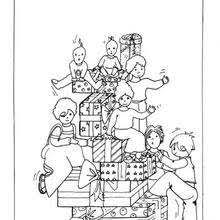 Small Picture CHRISTMAS GIFT coloring pages 14 Xmas online coloring books and