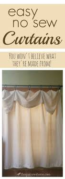 No Sew Curtains 84 Best Curtains And Windows No Sew Sew Images On Pinterest