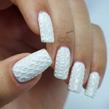 White Jumper Nails with Bio Seaweed Gel   Cable Knit Nail Art ...