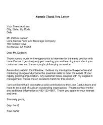 Thank You For The Interview Note Resume And Cover Letter Resume