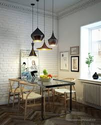kitchen table lighting dining room modern. black dining table lighting and white brick wall in awesome room design kitchen modern i