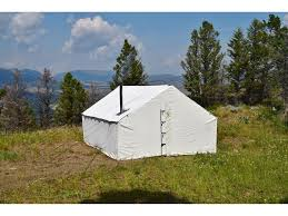 stove jack. montana canvas 16\u0027 x 20\u0027 wall tent with 5\ stove jack
