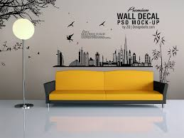 Small Picture Free Vinyl Wall Art Decal Sticker Mockup Psd File by Zee Que