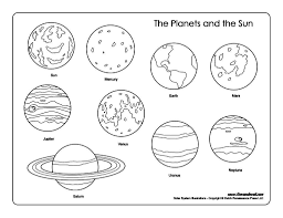 Coloring Pages Solar System For Coloring Picture Inspirations