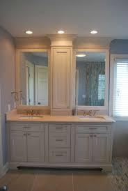 Wood Mode Cabinets Stone Waterfall Tile Bathroom Remodel In Rochester Ny Concept Ii