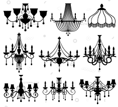 crystal lamp silhouette clipart light chandelier