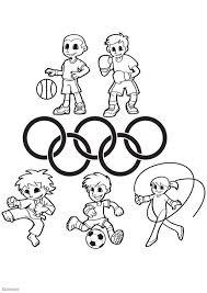 Kleurplaat Olympische Spelen School Stuff Olympic Games Games