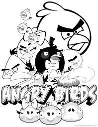 Small Picture Free Printable Angry Bird Coloring Pages Aquadisocom