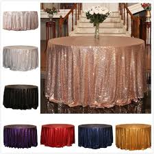 48 inches 120 cm diameter round table sequin tablecloth table runner table decoration home