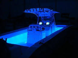 boat blue led rope lights lighting design 2014 solid white cape horn 31xs center console dark teak floor in bathroom blue · white capecenter consoleled string lightsboat